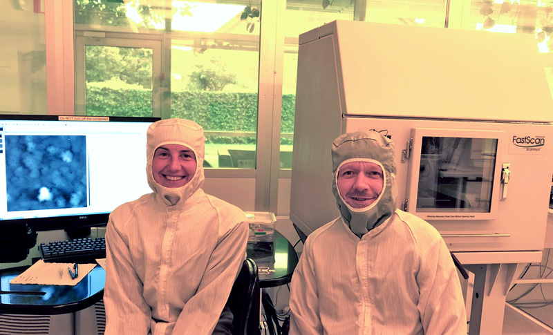 Scientific researchers at Lund University in Sweden with the Bruker AFM