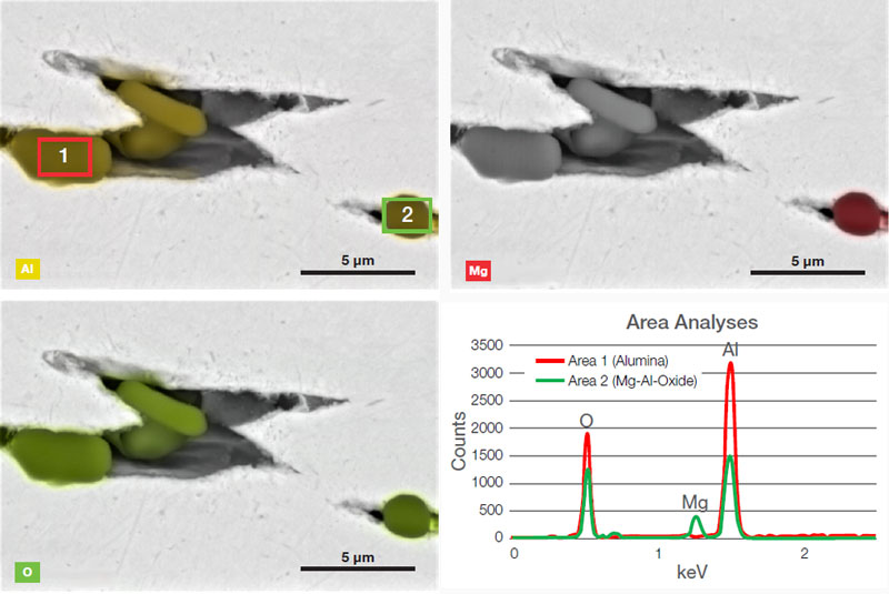 Steel Inclusion Analysis with SEM/EDS