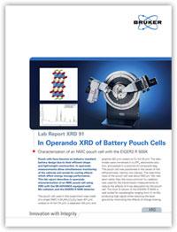 Bruker Lab Report: In Operando XRD of Battery Pouch Cells